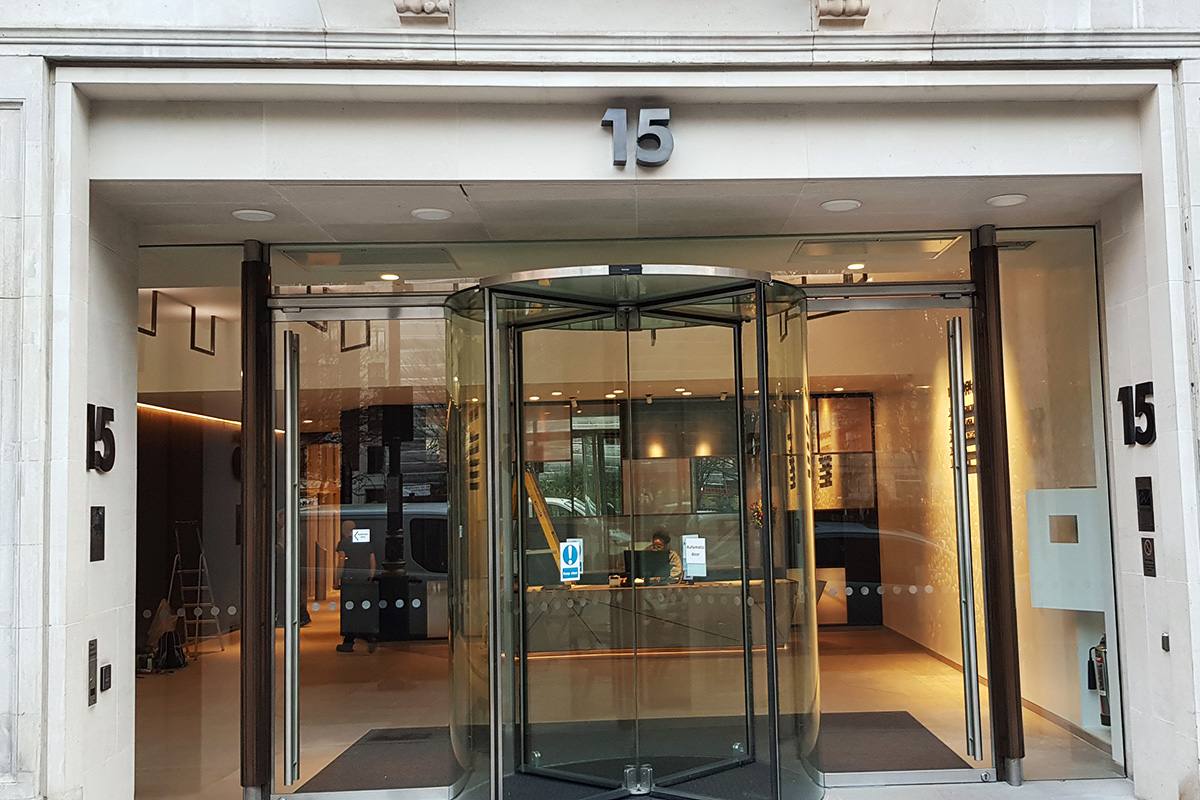 Hand Patinated and Laser Cut Bronze Lettering – 15 Golden Square, Soho London
