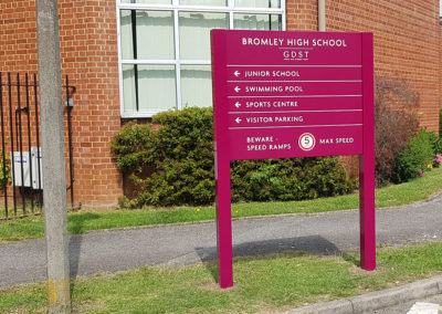 Wayfinding Signs for the Girls Day School Trust – Bromley High School