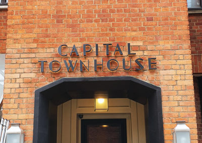 Built Up Aluminium Lettering – The Capital Hotel, Apartments & Townhouse