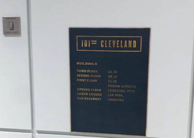 Art Deco Vintage Bonze Wayfinding Signage – 101 Cleveland